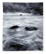 Turbulent Seas Fleece Blanket