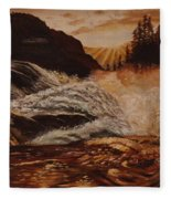 Turbulent Waters Fleece Blanket