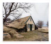 Turf Church At Hof In Iceland Fleece Blanket