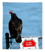Turkey Buzzard Fleece Blanket