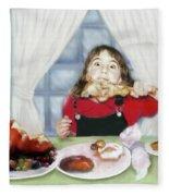 Turkey Girl Fleece Blanket