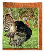 Turkey Strut Fleece Blanket