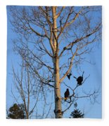 Turkey Vulture Tree Fleece Blanket