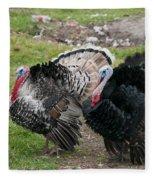 Turkeys In The Yard At Laguna Guerrero Fleece Blanket