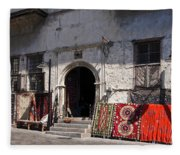 Turkish Carpet Shop Fleece Blanket