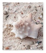 Turks And Caicos Shell Fleece Blanket