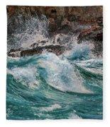 Turmoil In Blue Fleece Blanket