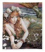 Turn Loose The Mermaid Fleece Blanket