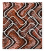 Turns And Curves Fleece Blanket