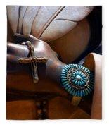 Turquoise Bracelet  Fleece Blanket