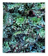 Turquoise Garden Of Glass Fleece Blanket