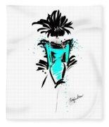 Turquoise In The City Fleece Blanket