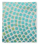 turquoise meets green P2 Fleece Blanket
