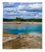 Turquoise Pool, Yellowstone Fleece Blanket