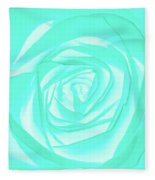 Turquoise Rose Fleece Blanket
