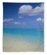 Turquoise Shoreline Fleece Blanket