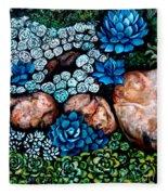 Turquoise Stone Fleece Blanket