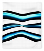 Turquoise Teal Abstract Lines Fleece Blanket
