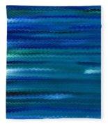 Turquoise Waves Fleece Blanket