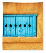 Turquoise Window Shutter Fleece Blanket