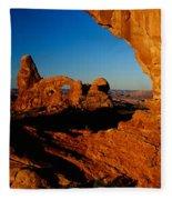 Turret Arch Through North Window Fleece Blanket