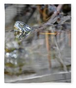 Turtle Eye Reflection Fleece Blanket