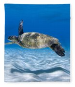 Turtle Flight -  Part 2 Of 3  Fleece Blanket
