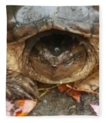 Turtle In Repose  Fleece Blanket