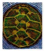 Turtle Shell Mandala Sparkle Fleece Blanket