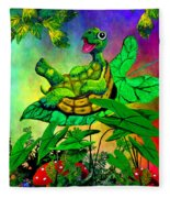 Turtle-totter Fleece Blanket