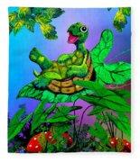 Turtle Trampoline Fleece Blanket