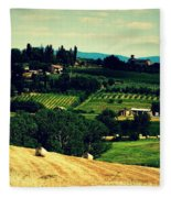 Tuscan Country Fleece Blanket