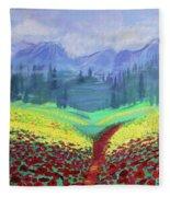 Tuscan Poppies Fleece Blanket