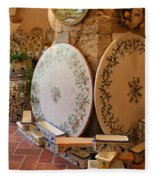 Tuscan Pottery Fleece Blanket