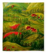 Tuscany At Dawn Fleece Blanket