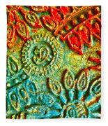 Tuscany Batik Fleece Blanket