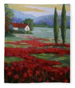 Tuscany Fields Fleece Blanket