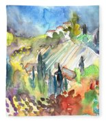 Tuscany Landscape 03 Fleece Blanket