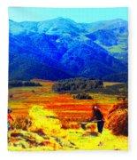 Tusheti Hay Makers IIi Fleece Blanket