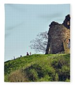 Tutbury Castle Ruins Fleece Blanket
