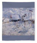 twachtman last touch of sun c1893 John Henry Twachtmann Fleece Blanket
