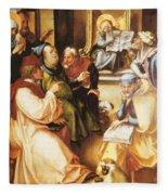 Twelve Year Old Jesus In The Temple 1497 Fleece Blanket