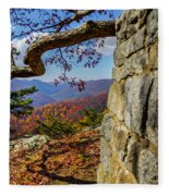 Twenty Minute Cliff Blue Ridge Parkway I Fleece Blanket
