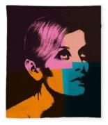 Twiggy Pop Art 2 Fleece Blanket