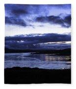 Twilight At Loch Bracadale Fleece Blanket