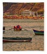 Twilight At The Beach, Miraflores, Peru Fleece Blanket
