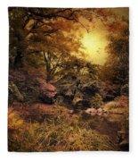 Twilight Autumn Garden Fleece Blanket