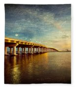 Twilight Biloxi Bridge Fleece Blanket