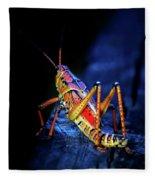 Twilight Grasshopper Fleece Blanket