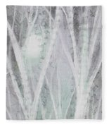 Twilight In Gray I Fleece Blanket